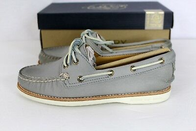 Sperry GOLD CUP A/O Light Grey Leather Women's Boat Shoe NEW NIB  5.5 Orig $160