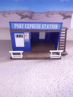 Playmobil Western ACW Haus Stadt +++ Pony Express Station +++ TOP+++ Unikat +++