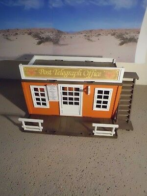 Playmobil Western ACW Haus Stadt +++ Post Telegraph Office +++ TOP+++ Unikat +++