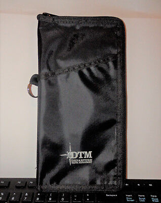 "Dtm Departure Travel Mgr. Passport Wallet  Organizer  10.75 "" X 5.5 ""  Black"