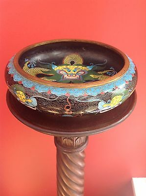 chinese cloisonne dragon Large bowl in beautiful condition 19th century. Antique