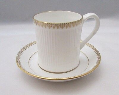 Crown Staffordshire England Coffee Can Tea Cup and Saucer Dominique