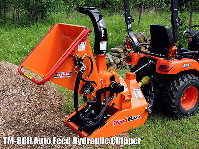 WoodMaxx TM-86H PTO tractor Driven Hydraulic Auto-Feed Chipper