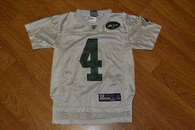 ca0e3cf1d0a Vintage New York Jets Brett Favre Football Jersey Youth Small 8 Nice NFL  Reebok