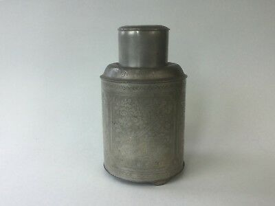 19th/20th C. Chinese Pewter Tea Caddy - Signed