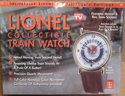 Lionel Collectible Train Watch w/Sound! SEALED