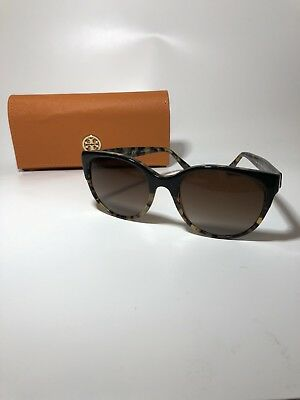 2520c20bf973 Tory Burch Sunglasses TY 7095 1601/13 Black Tortoise Gradient Brown Lenses