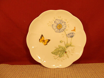 """Lenox China Butterfly Meadow Accent Luncheon Plate 9 1/8"""" Monarch NWT"""