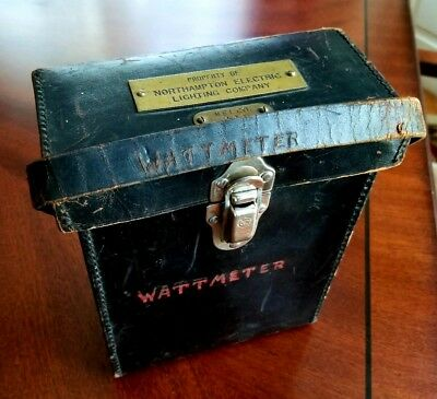 1930s Northampton Ma Electric Lightning Co GE Wattmeter