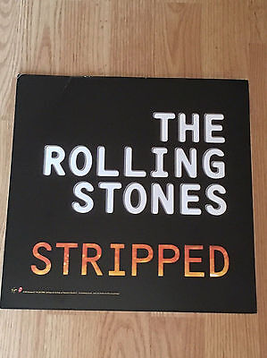 ROLLING STONES STRIPPED Album Flat Double Sided Display-Promo 1995