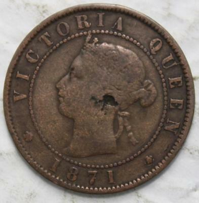 Prince Edward Island 1871 Large Cent, Old Date Queen Victoria