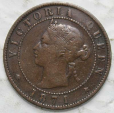 Prince Edward Island 1871 Large Cent, Queen Victoria