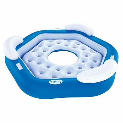 Bestway Island Inflatable Floating Lounge Swimming Pool Water Tube Rider