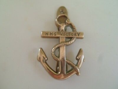 Reclaimed Vintage Brass Nautical Theme HMS VICTORY ANCHOR & ROPE Door Knocker