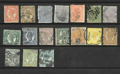 Australia  Queensland Selection x 17 1/2d to 2/- , good used / fine used