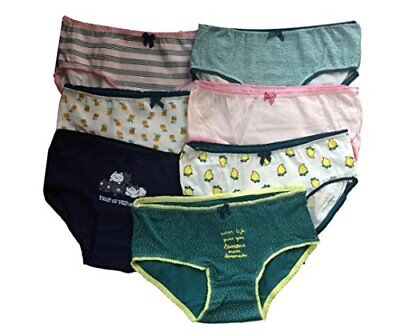 Teen Girls Underwear 7 Pack Briefs/Pants/Knickers