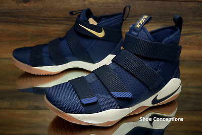 f996f191a04 Nike Lebron Soldier XI Midnight Navy 897644-402 Basketball Shoes Men s  Multi Sz