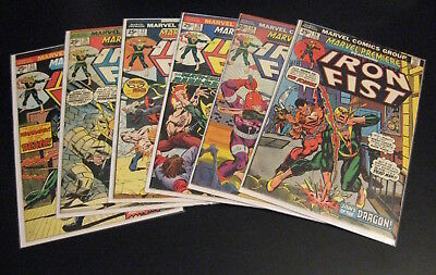 Lot of *6* MARVEL PREMIERE, IRON FIST #16,18,19,22,23,25 (FN/VF) or (VF-)