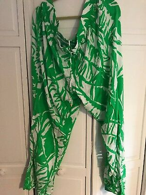 720a834688 Lilly Pulitzer for Target WOMANS PLUS 3x Boom Boom Palazzo Pants GREEN