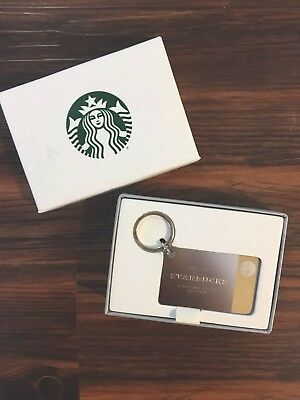 Starbucks 2017 Limited Edition Sterling Silver Mini Gift Card Keychain Mint