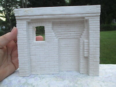 Dollhouse Miniatures ~ Lawbre Early American Kitchen Fireplace ~ Unpainted