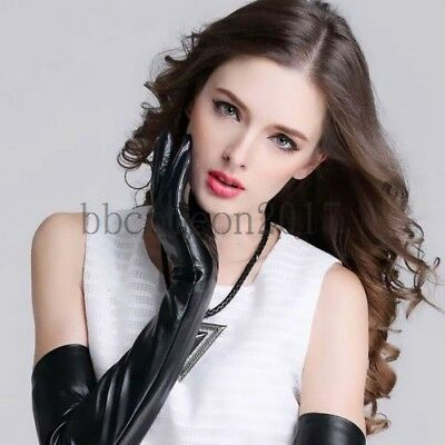 New Shine Mitten Patent Leather Over Elbow Long Gloves Adult Party Opera Costume