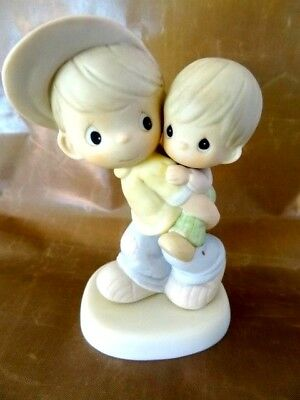 "Precious Moments ""He'll Carry Me Through"" Boy Carrying Brother 2000 NIB"