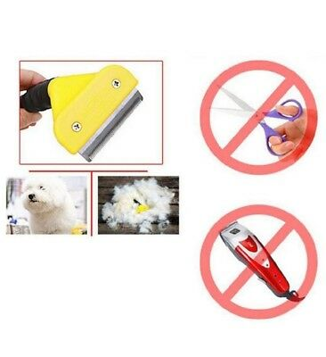 New Pet Dog/Cat Fur Cutter Tool Hair Rake Grooming Shedding Trimmer Brush Comb