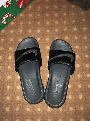 9ef276fc2 Nike MEN S Black Sports Slides Sandals Size 6