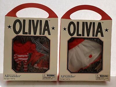 NIB Madame Alexander OLIVIA PIG OUT & ABOUT Outfit 2Top & Bottom Sets & Sneakers