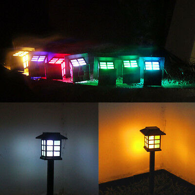 Solar Power LED Garden Light Fence Path Way Wall Landscape Mount Outdoor Lamp