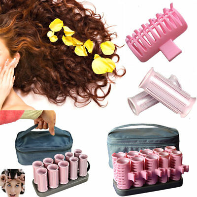 10 Pcs/Set Electric Roll Hair Tube Heated Roller Hair Curly Styling Sticks Tools