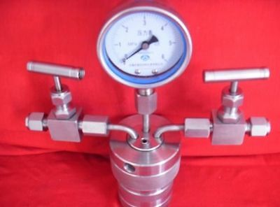 Hydrothermal synthesis Autoclave Reactor vessel + inlet outlet gauge 50ml 6Mpa A