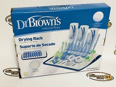 Open Box Dr Brown's Natural Flow Drying Rack. Holds 12 bottles & components