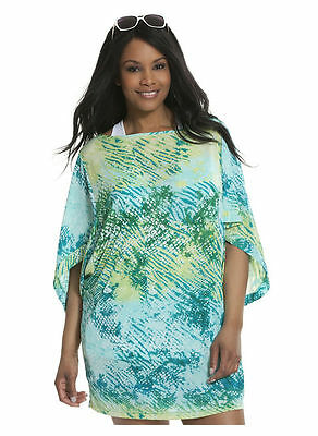 d54194d5d2 Bluebird Animal 18 20 2X Lane Bryant Plus Size Swimsuit Kimono Cover-Up NEW