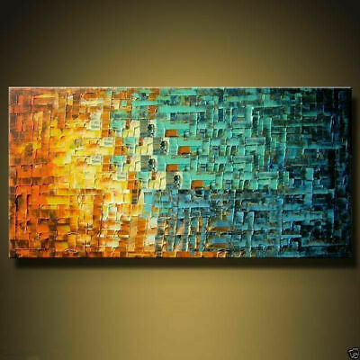 VV114 Modern Hand-painted abstract art oil painting on canvas No Frame 24x48in