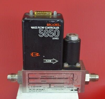 Brooks 5850C Series N2 Mass Flow Controller (Nitrogen, 0-100 SCCM, D-connector)