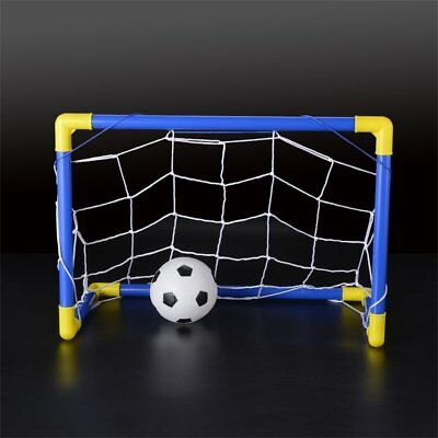 Folding Mini Football Soccer Goal Post Net Set with Pump Kids Sport Toy ND