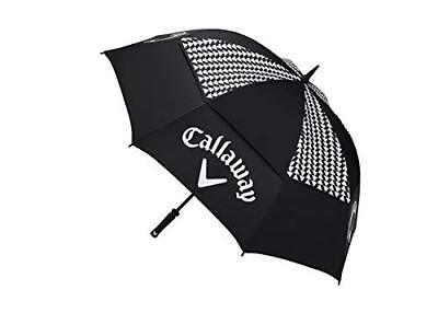 "Callaway Golf 2017 Women's Umbrellas 60"" Double Canopy, Black/White"