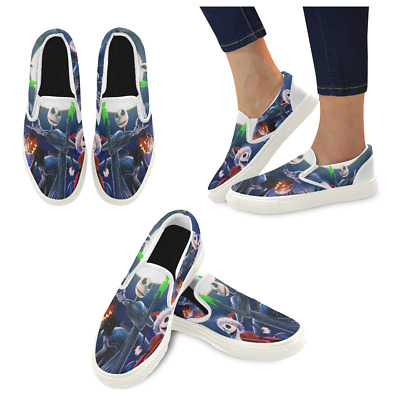 Custom The Nightmare Before Christmas Slip On loafers Women's Canvas Flat Shoes