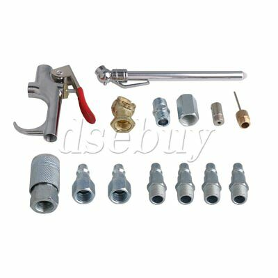 14pcs Air Tool Compressor Nozzle Blow Gun Pneumatic Cleaning Accessory Kit