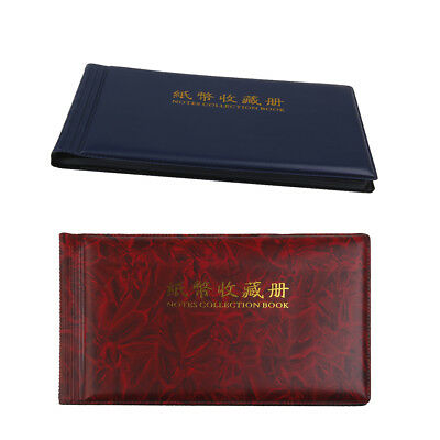 2pcs/set 30 Pages Banknote Currency Collection Paper Money Pocket Album Book