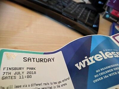 Wireless Festival 2018 Saturday Tickets x4