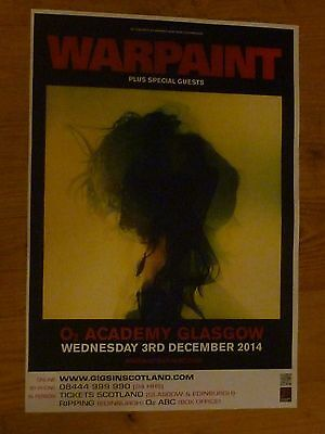 Warpaint - Glasgow dec.2014 tour concert gig poster