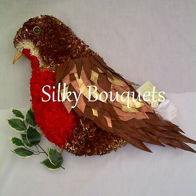 Artificial Silk Funeral Flower Robin Any Bird Tribute Pigeon Pheasant Memorial