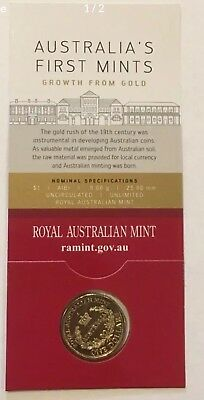 $1 Australia's First Mints -Growth for Gold- 'C' Canberra Mintmark Coin