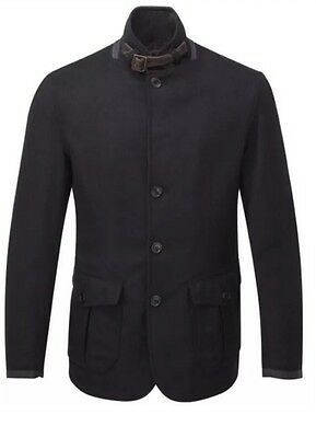 Barbour for J.Crew Barkston Jacket NAVY Wool GREATCOAT - Size Small - $440