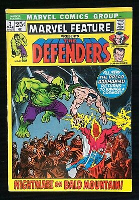 1972 Marvel Feature The Defenders #2  2nd appearance of Hulk Namor