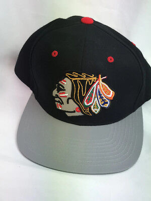 NHL Mitchell & Ness Nostalgia Chicago Blackhawks Snapback Hat Cap Black Gray