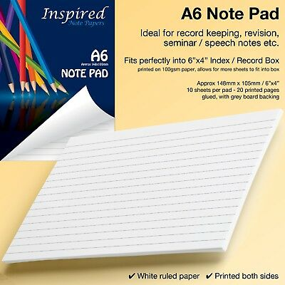 Mini Notepad Notebook A7 Jotter Note Paper Scribble Pad Pocket Size Sketchpad-UK